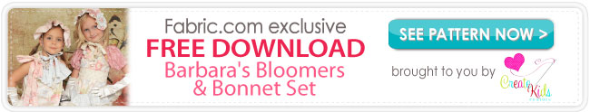 Barbara's Bloomers & Bonnet Set